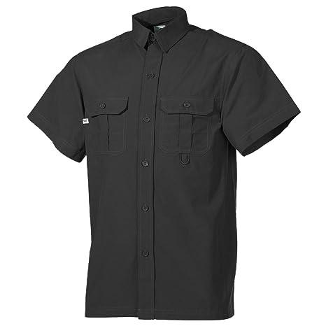 cheap for discount eb6a8 9be56 Fox Outdoor Outdoor Hemd, kurzarm, schwarz, Microfaser ...