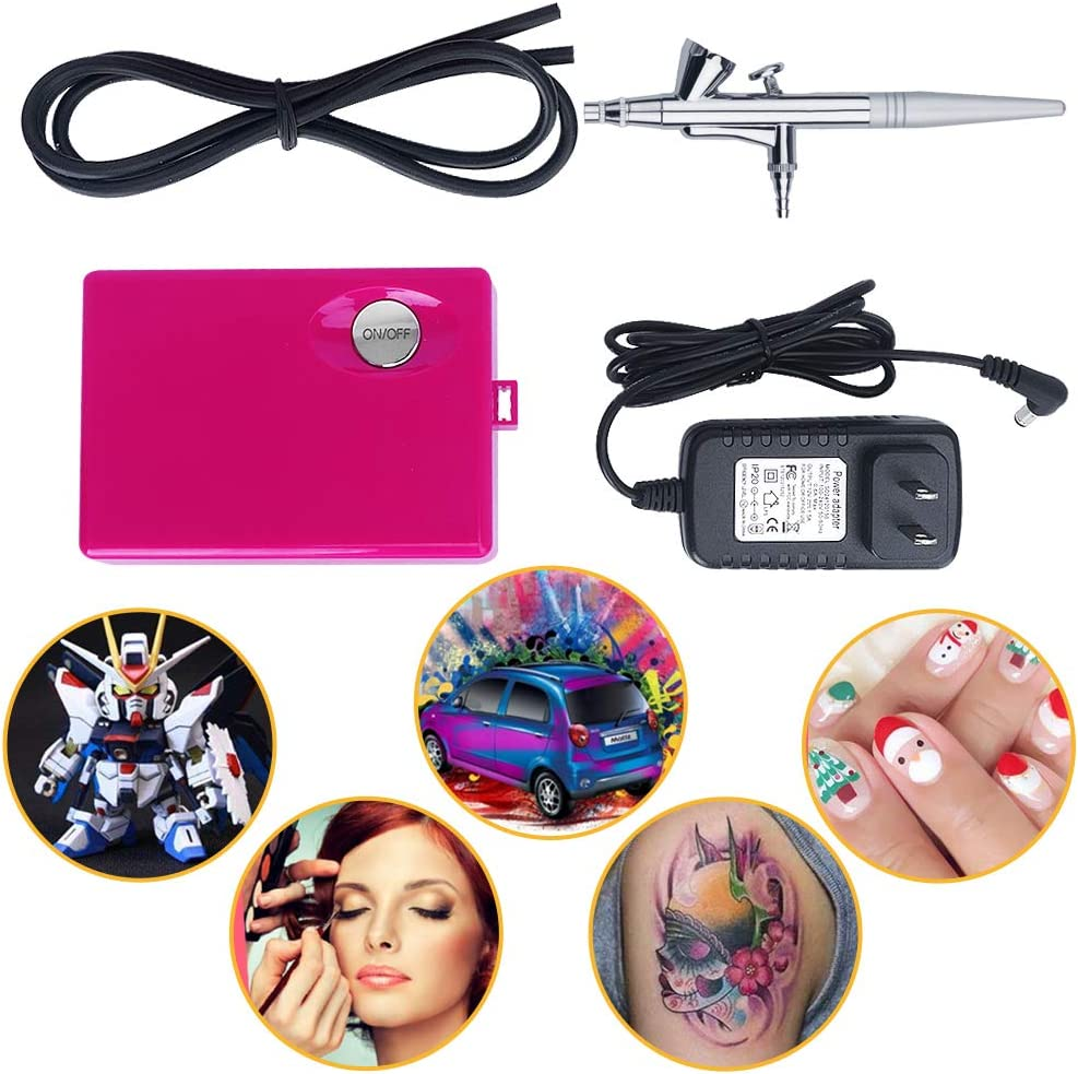 Airbrush Makeup Kit, Fy-light Cosmetic Makeup Airbrush and Compressor System for Face, Nail, Temporary Tattoos