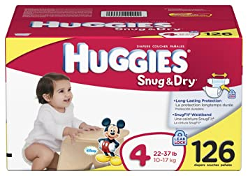Amazon.com: Huggies Snug & Dry Diapers, Size 4, 126-Count: Health ...