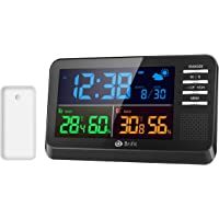 Amir Weather Station Alarm Clock with Large Color Display