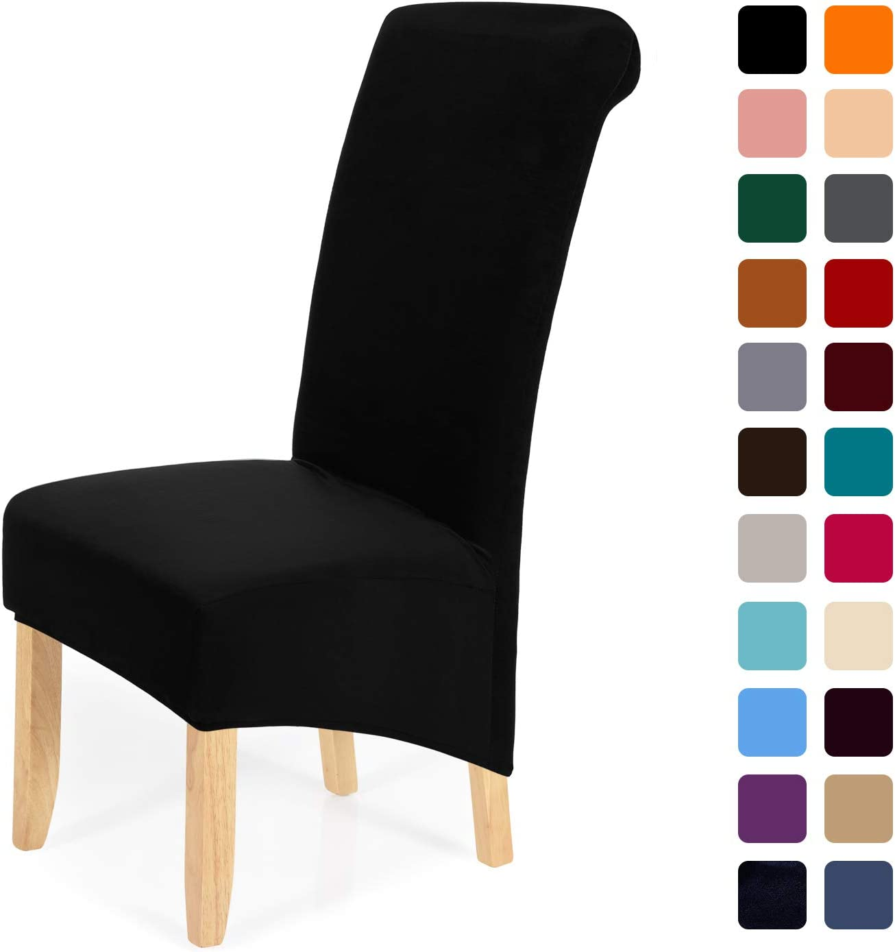 Stretch Velvet Dining Chair Covers