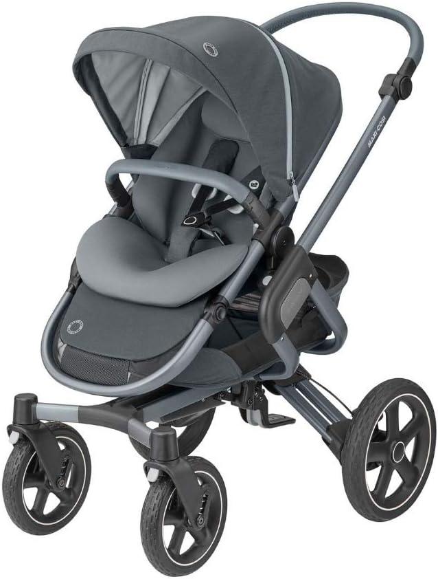 Maxi Cosi Adorra Cochecito para bebé, cómodo y ligero, con gran cesta de la compra, 0 15 kg, color negro esencial