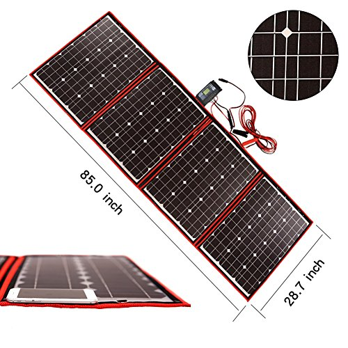 Dokio 200 Watts 12 Volts Monocrystalline foldable Solar Panel with Inverter Charge Controller by Dokio