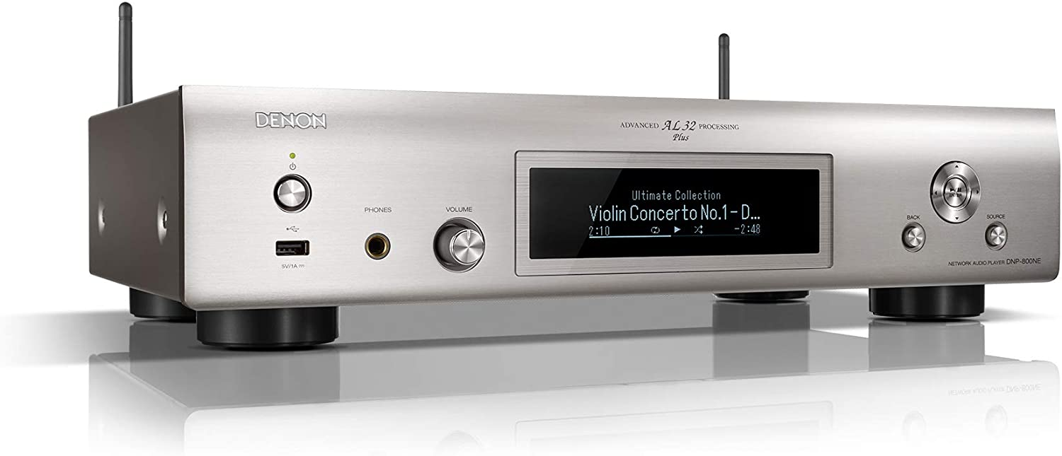 DENON Red Stereo Receiver DNP-800NE x Plata AirPlay, Bluetooth ...