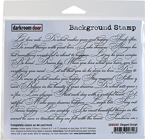 (Darkroom Door Elegant Script Background Cling Stamp, 4