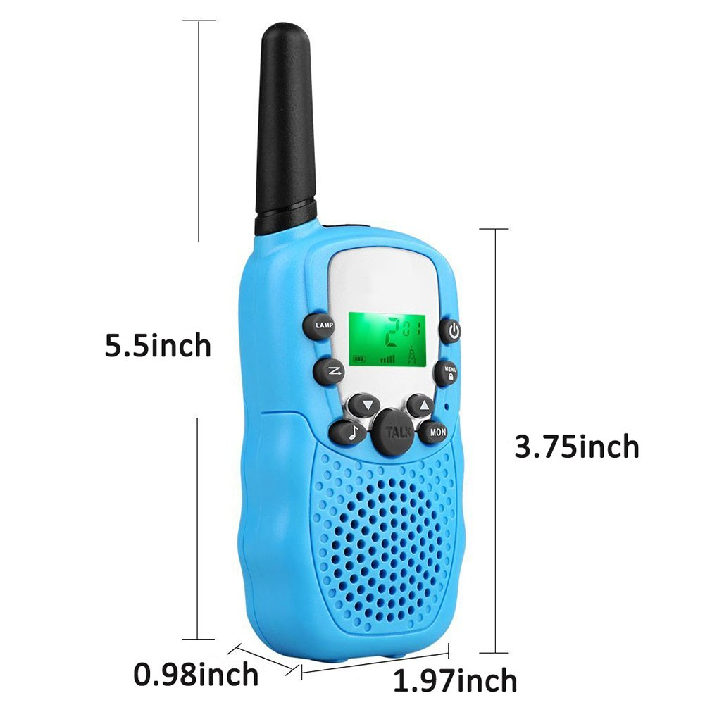 4Pack Kids Walkie Talkie Girls Boys Long Range Two Way Radio 22 Channel LED Flashlight Marine Cruise FRS Camping Accessories Toys Hiking Family Games Outdoor Holiday Birthday Gifts [SUPER CUT] by iGeeKid (Image #6)