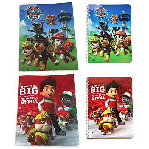 UPC 744890516073, Paw Patrol School Supply Bundle of 4 items- includes (2) 2 Pocket folders and 2 Spiral Notebooks