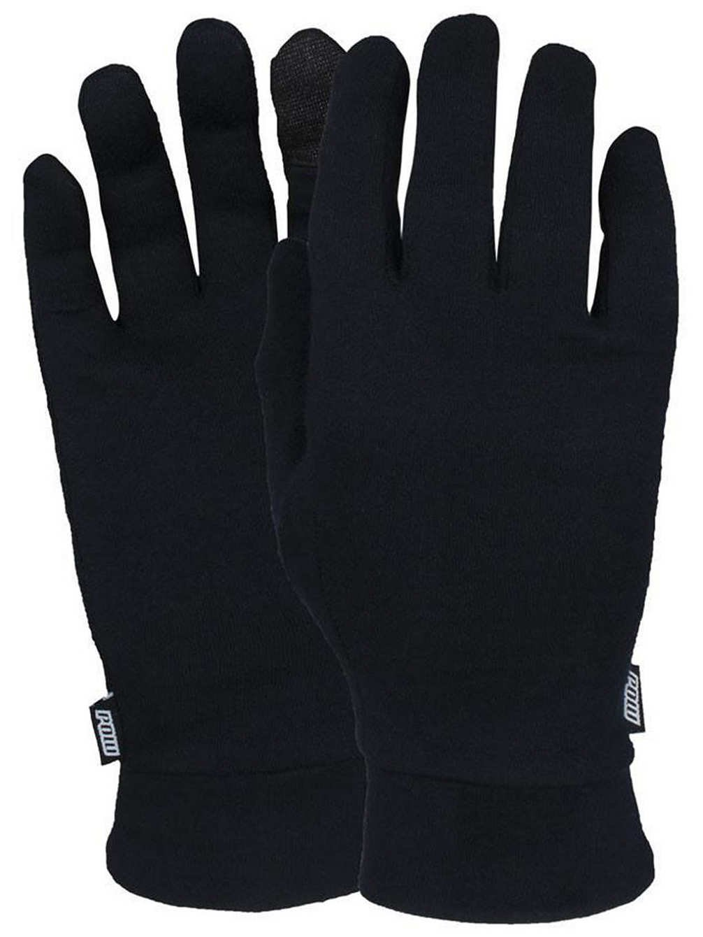 Pow Merino Liner Glove - Black Medium