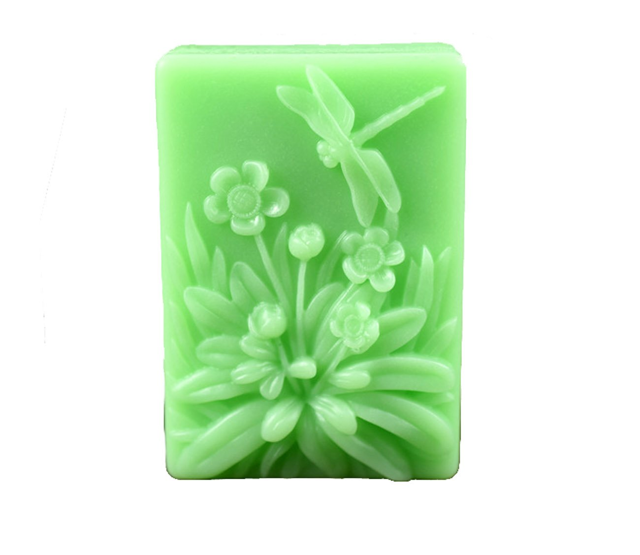 Longzang S515 Dragonfly Flower Silicone Soap Mold 3D Handmade Craft Mould Longzang molds 4336901442