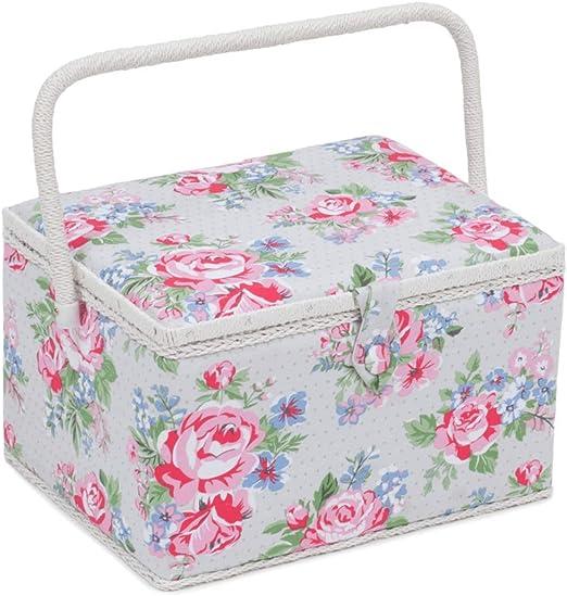 Caja de costura/organizador grande – rosa (floral) – HobbyGift MRL\443 – 24 x 31 x 20 cm: Amazon.es: Hogar