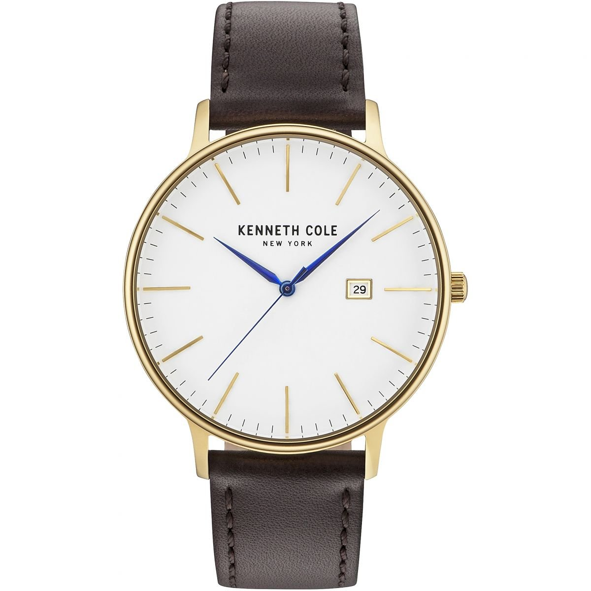 7ac7ea451a4 Amazon.com  Kenneth Cole New York Men s  Classic  Quartz Stainless Steel  and Leather Dress Watch