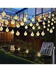 Etmury Solar String Lights Outdoor, 30 LED Crystal Ball Fairy Lights Waterproof Solar Powered String Lights for Garden, Home, Party, Gazebo, Lawn, Patio (Warm White)