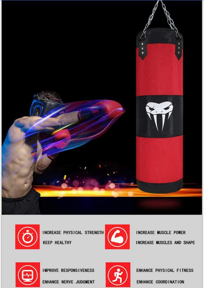 SOTF Hanging Punching Bag Fitness Muscle Training MMA Boxing Sandbag Without Filler