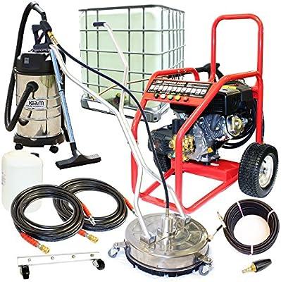 Kiam Business Starter Pack: Warrior 3400P 9hp Limpiador a presión de gasolina, KV30B aspirador húmedo y seco, limpiador rotatorio SurfacePro 18, boquilla turbo, 1000L IBC: Amazon.es: Bricolaje y herramientas