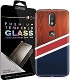 [COMBO] Moto G4 Plus Cover/Case + Free Tempered Glass, CASE U Red Wood Designer Premium PolyCarbonate Case Back Cover for Motorola Moto G4 Plus