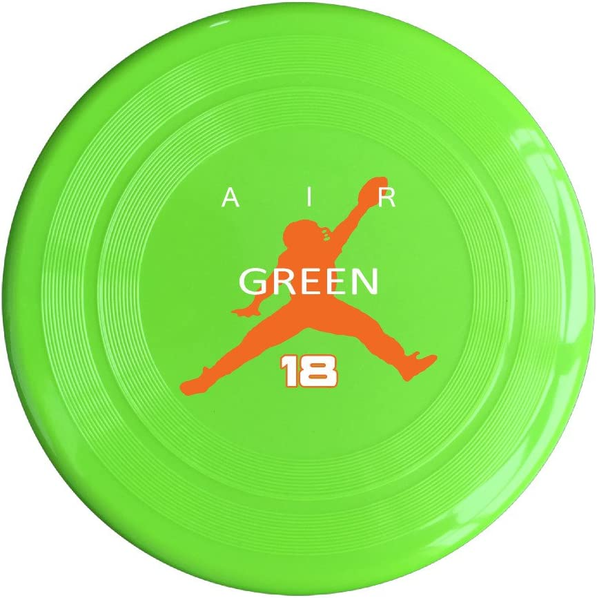 AOLM Football Player #18 Air Green Outdoor Game Frisbee Sport Disc Yellow