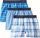 Hanes Boys' 3 Pack Ultimate Yarn Dyed Boxer, Assorted, Medium