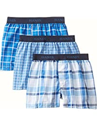 Hanes Boys' 3 Pack Ultimate Yarn Dyed Boxer