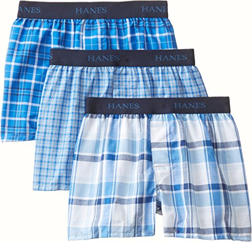 Hanes Boys' 3 Pack Ultimate  Yarn Dyed Boxer, Assorted, Small