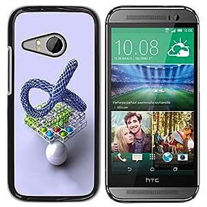 Carcasa Funda Prima Delgada SLIM Casa Case Bandera Cover Shell para HTC ONE MINI 2 / M8 MINI / Business Style Abstract Balls