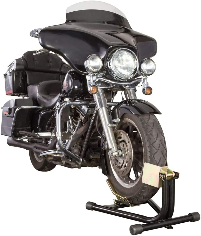 Black Widow Locking Front Motorcycle Chock for 16-18 Wheels