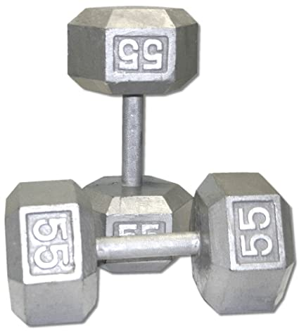Image result for 55 pound dumbell