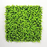 ULAND Artificial Boxwood Hedge Panels with White Flowers Faux Ivy Leaves Privacy Fence Screen for Outdoor Wall Decoration 20''x 20''(12 Piece)