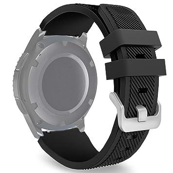 kitway Gear S3 Frontier/Classic Correa de Reloj, Reemplazo de Banda de Silicona Suave Deportiva Pulsera de Repuesto para Samsung Gear S3 Frontier/S3 ...