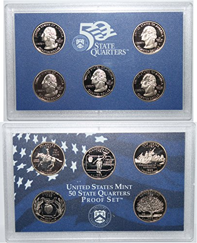 1999 S US Mint State Quarter Proof Set Gem Uncirculated ()