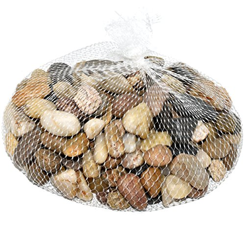 Decorative River Pebble Rocks 4 Lb. Bag of Multicolored Mixed Stones on tree with pebbles, table with pebbles, rug with pebbles, glass with pebbles, painting with pebbles, decorating with pebbles, water with pebbles, planter with pebbles, jar with pebbles, fireplace with pebbles, flowers with pebbles, pot with pebbles, jewelry with pebbles,