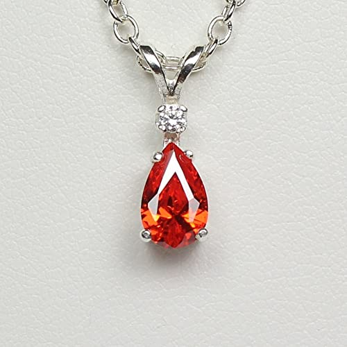 Amazon mexican fire opal necklace sterling silver with diamond mexican fire opal necklace sterling silver with diamond accent aloadofball Choice Image