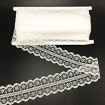 "ELLA MAMA Lace Trim DIY Craft Ribbon 1-1/4"" x 20 Yards, Sewing Applique craft Wedding Decoration Gift Wrapping Ribbon Tape"