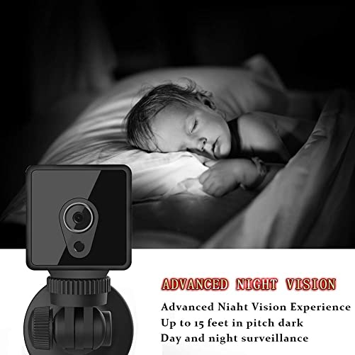 Mini WiFi spy Camera wirless Hidden Camera, Modernway Full HD 1080P Indoor Small Home Security Cameras Nanny Cam with Motion Detection and Night Vision for COP Baby PET Office Outdoor Video Recording