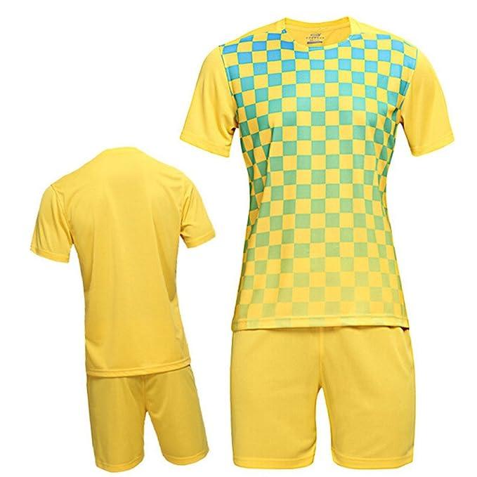 sudadera fútbol jersey polos equipo casa/hogar/lejos uniforme deporte con calidad buena amarillo and verde Grid 4XL: Amazon.es: Ropa y accesorios