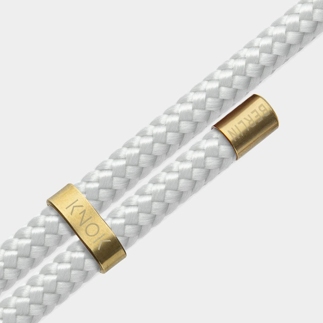 KNOK Schl/üsselband Anh/änger mit Kordel zum Umh/ängen Umh/ängeband Handgefertigt Grau
