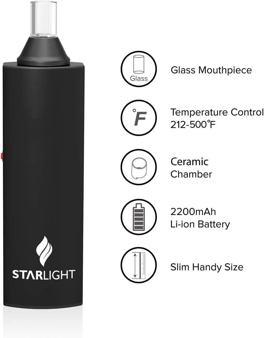 ATMAN Star Light II Dry Herb Vape Pen, Vaporizador de tabaco para cigarrillos portátil - Control de temperatura Vaporizador de hierbas para fumar - Sin nicotina