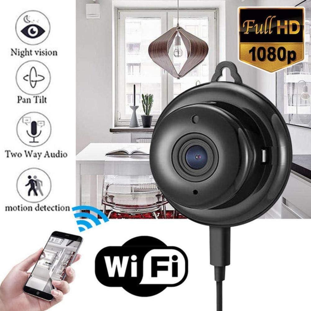MRSDBTL Accueil équipement de sécurité Mini caméra cachée IP HD 1080P sans Fil WiFi Ruche Accueil caméra de sécurité CCTV, IR Vision Nocturne Infrarouge de détection de Mouvement Carte SD Audio