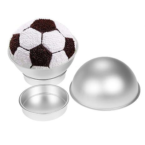 ZhongYeYuanDianZiKeJi 3D Sport Pelota Bandeja para Tarta Netball Fútbol Tenis Media Bola