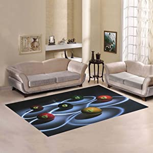 Love Nature Sweet Home Modern Collection Custom Billiard Area Rug 7'x5' Indoor Soft Carpet