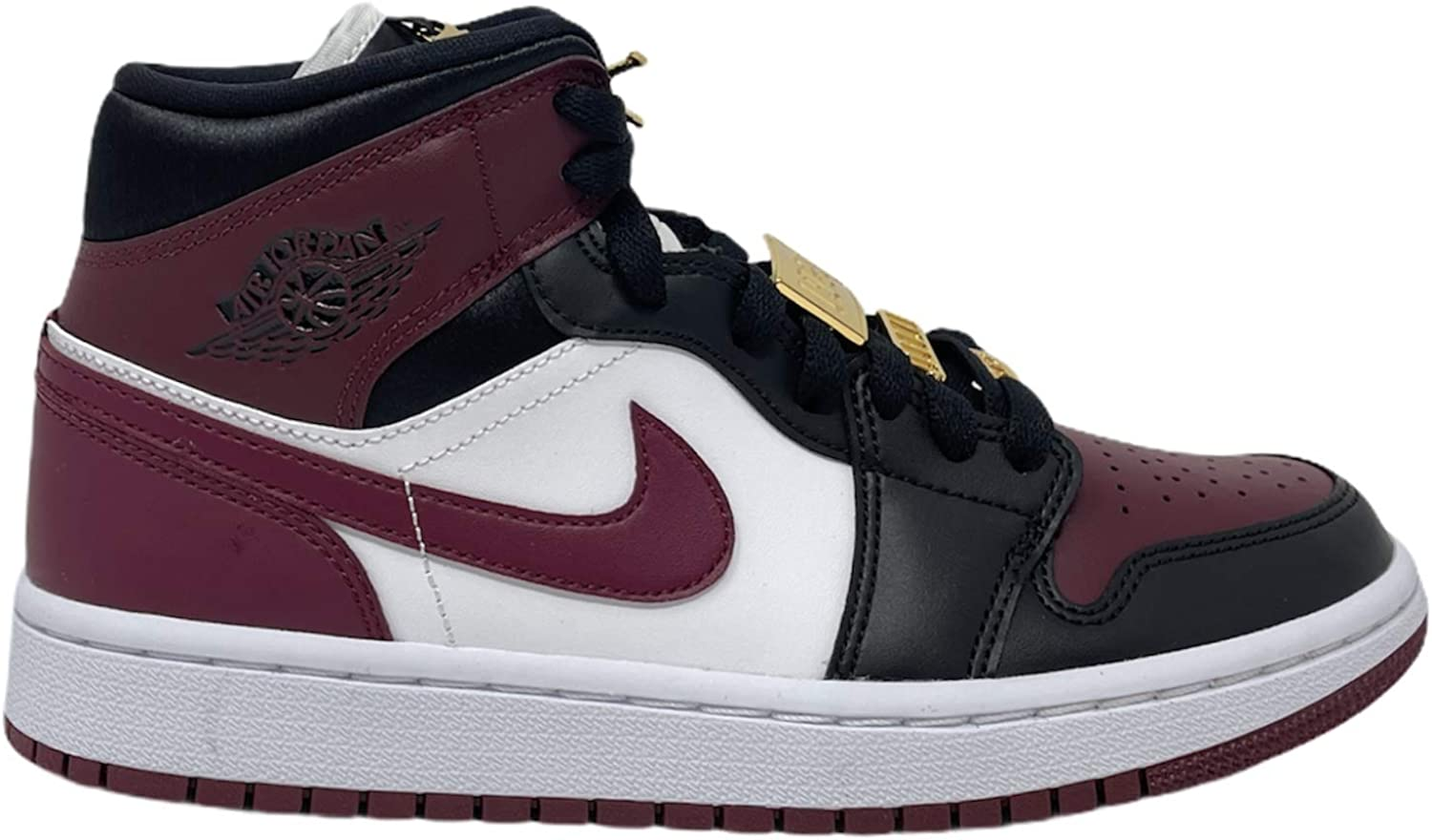 Academia En riesgo Indefinido  Amazon.com | Nike Jordan 1 Mid SE Womens Black Dark Beetroot | Basketball