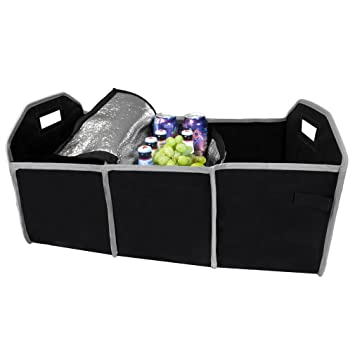 Vehicle Storage /& Organization Green Mountain Imports 5236 Evelots Trunk Organizer Collapsible /& Portable