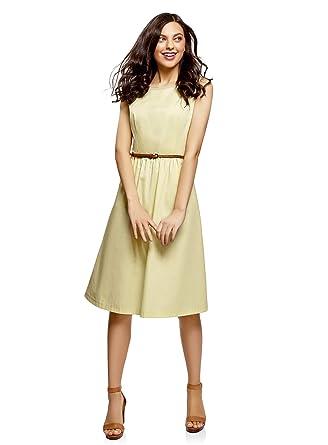 a9f6f1db6b99 oodji Ultra Femme Robe sans Manche avec Poches  Amazon.fr  Vêtements ...