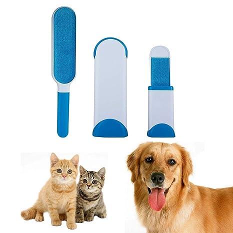 Cepillo Pelo de Animales, Reutilizable Mascota Fur Remover con Auto-Limpieza Base, Cepillo