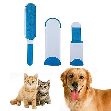 Cepillo Pelo de Animales, Reutilizable Mascota Fur Remover con Auto-Limpieza Base, Cepillo de limpieza para el hogar Cepillo de animal para cepillado ...