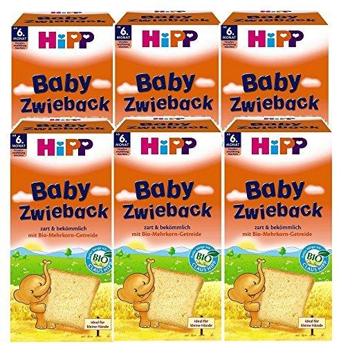 HiPP Baby- Zwieback Bio, 6er Pack (6 x 100 g) 3555 Babynahrung