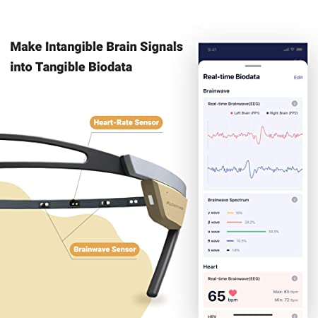 Biosensing Meditation Headband with Heart Rate and Brainwave Sensors to Achieve Mindfulness Easier and Better for Advanced and New Meditator Flowtime