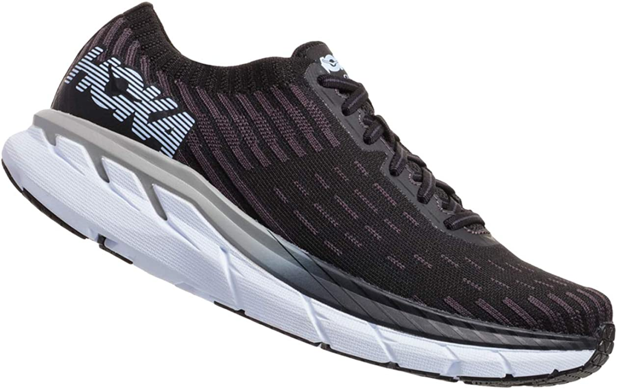 HOKA ONE ONE Men s Clifton 5 Knit Black White