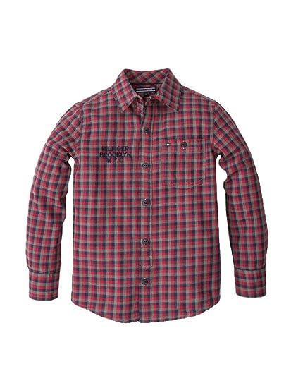 Tommy Hilfiger - Camisa de Manga Larga Cashman Check, niño, Multi ...