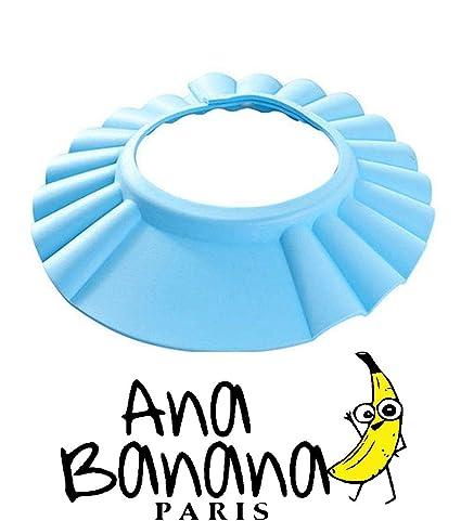 Visera de Bebé Niños para champú AZUL (Protección ojos, en goma Eva ...