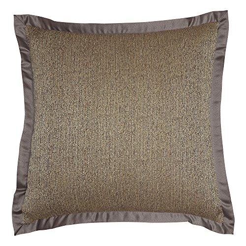 Comforter Veratex Euro (Veratex Devonshire Collection Contemporary Style Luxurious Patterned Polyester Bedroom Euro Sham Pillow, Brown)